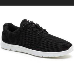Shoes - Black Mesh Style Sneakers